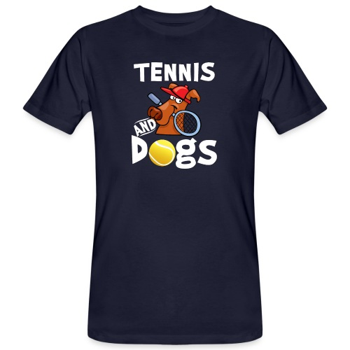 Tennis And Dogs Funny Sports Pets Animals Love - Männer Bio-T-Shirt