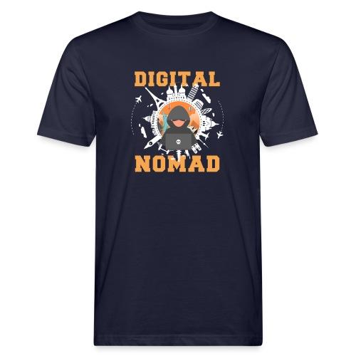Digital Nomad - Männer Bio-T-Shirt