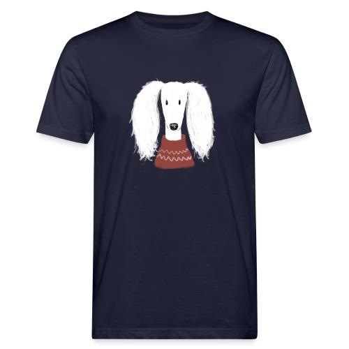 Saluki im Pulli - Männer Bio-T-Shirt