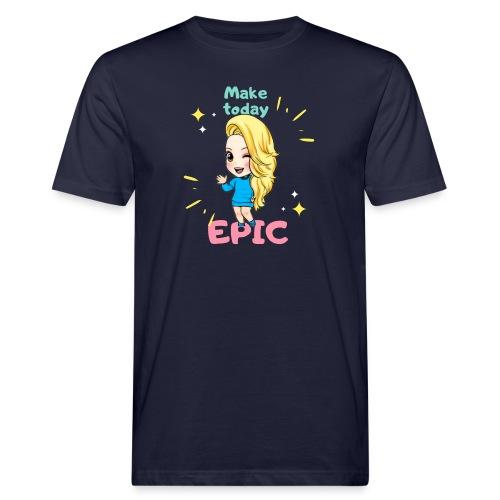 make today epic - Ekologisk T-shirt herr