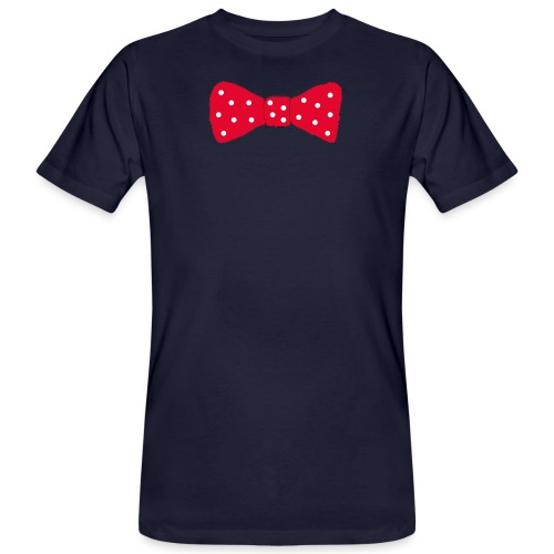 Bow tie Red with White Dots - Ekologisk T-shirt herr