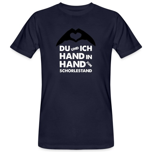 Hand in Hand zum Schorlestand / Gruppenshirt - Männer Bio-T-Shirt