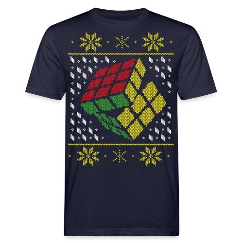 Rubik's Cube Ugly Christmas - Men's Organic T-Shirt