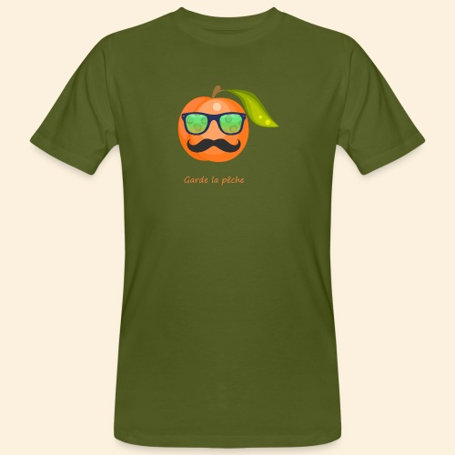 Lunette, moustache garde la pêche - T-shirt bio Homme