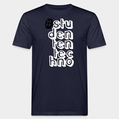 #studententechno (groß) - Männer Bio-T-Shirt