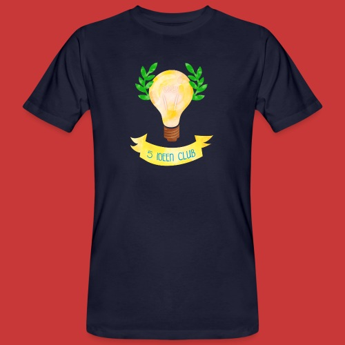 5 IDEEN CLUB Glühbirne 2018 - Männer Bio-T-Shirt