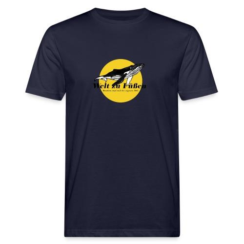 Welt zu Füßen Logo - Männer Bio-T-Shirt