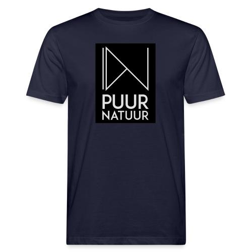 Logo puur natuur negatief - Mannen Bio-T-shirt