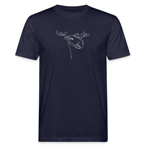 Elch weiss - Männer Bio-T-Shirt