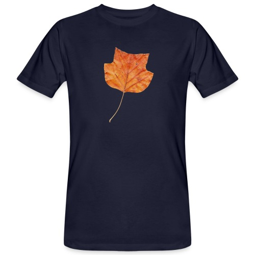Herbst-Blatt - Männer Bio-T-Shirt