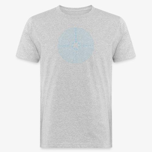 Labyrinth von Chartres - Männer Bio-T-Shirt
