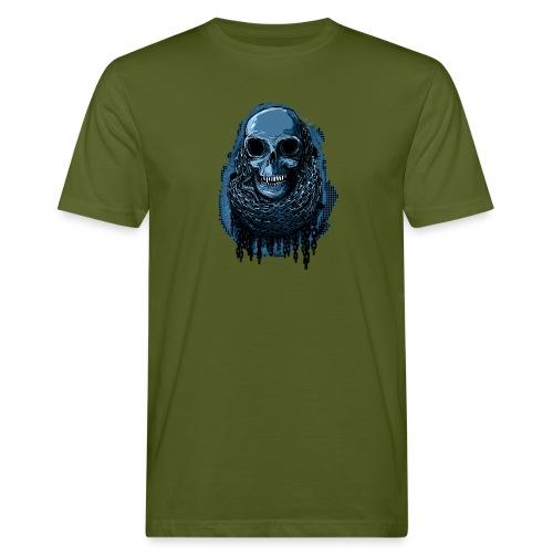 SKULL in CHAINS - deepBlue - Men's Organic T-Shirt
