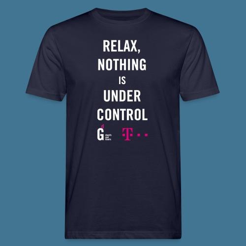 Relax weiss telekom - Männer Bio-T-Shirt