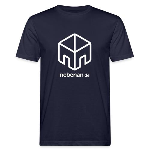 nebenan.de Logo - Männer Bio-T-Shirt