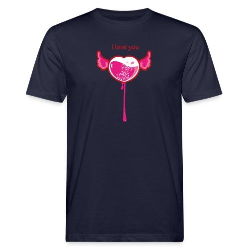 I love you - T-shirt ecologica da uomo