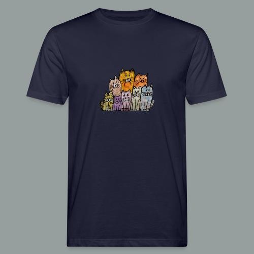 Katzenbande - Männer Bio-T-Shirt
