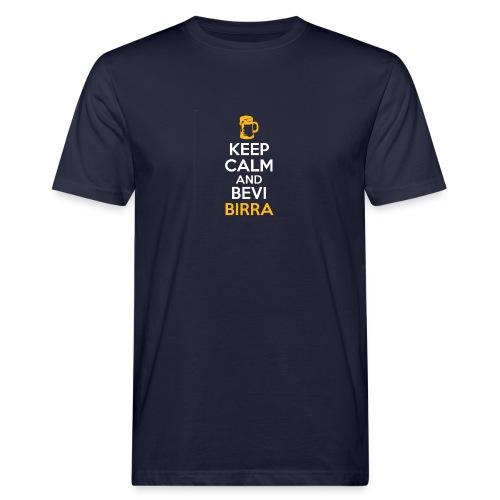 KEEP CALM AND BEVI BIRRA - T-shirt ecologica da uomo