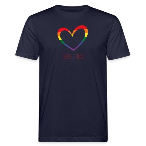 LUBOSĆ JE LUBOSĆ - Männer Bio-T-Shirt
