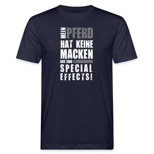 Vorschau: Keine Macken Pferd - Männer Bio-T-Shirt