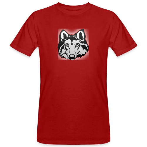Wolfie (Red) - Men's Organic T-Shirt
