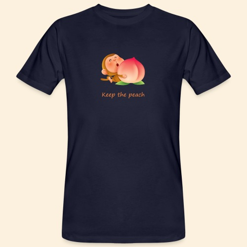 Monkey Keep the peach - T-shirt bio Homme