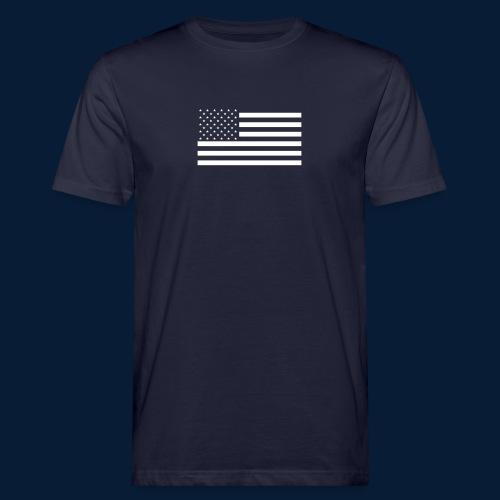 Stars and Stripes White - Männer Bio-T-Shirt