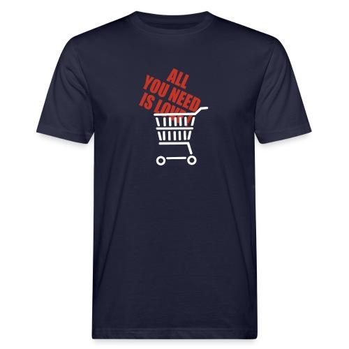 All U need is love white basket - Økologisk T-skjorte for menn