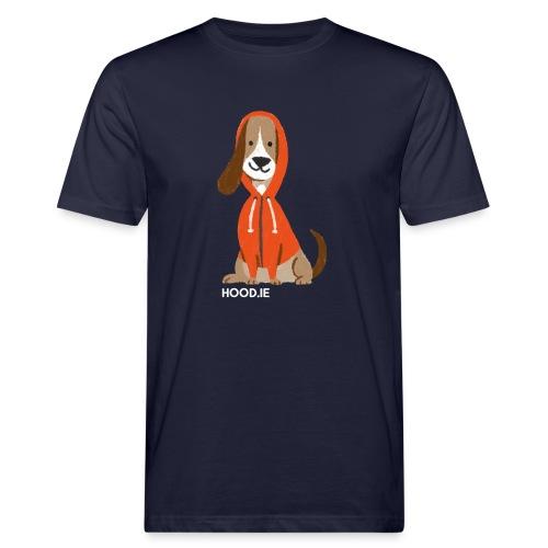 shirt-dog-hoodie-schrift - Men's Organic T-Shirt