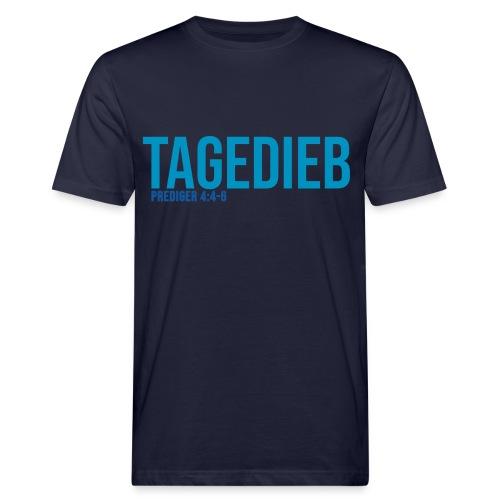 TAGEDIEB - Print in blau - Männer Bio-T-Shirt