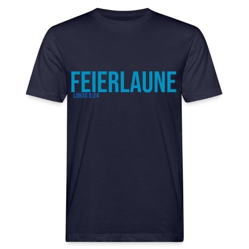 FEIERLAUNE - Print in blau - Männer Bio-T-Shirt