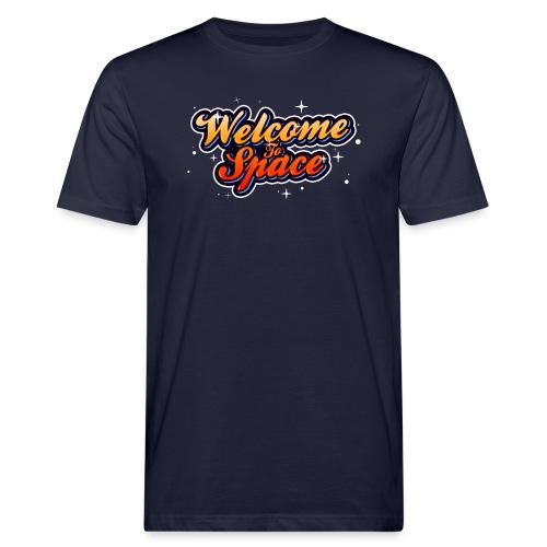 Colorful Welcome To Space Logo - Økologisk T-skjorte for menn
