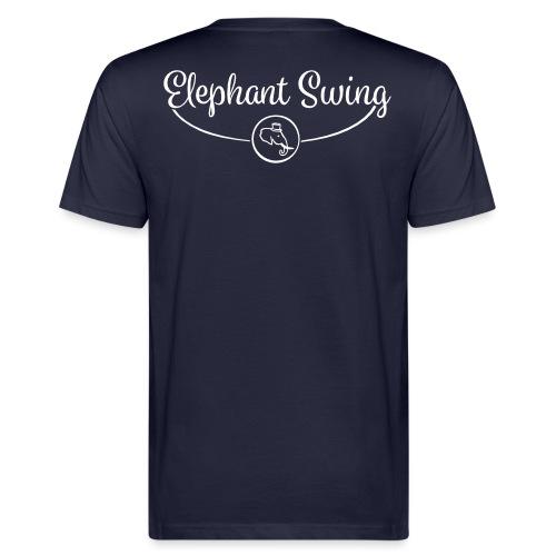 Elephant Swing Logo weiß - Männer Bio-T-Shirt