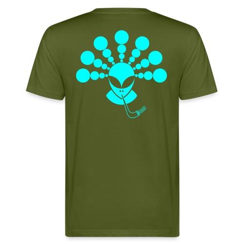 The Smoking Alien Light Blue - Men's Organic T-Shirt