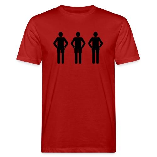 3schwarz - Männer Bio-T-Shirt