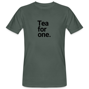 Tea for one - The Happy Single - Männer Bio-T-Shirt