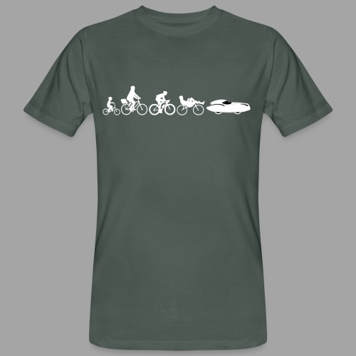Bicycle evolution white Quattrovelo - Miesten luonnonmukainen t-paita