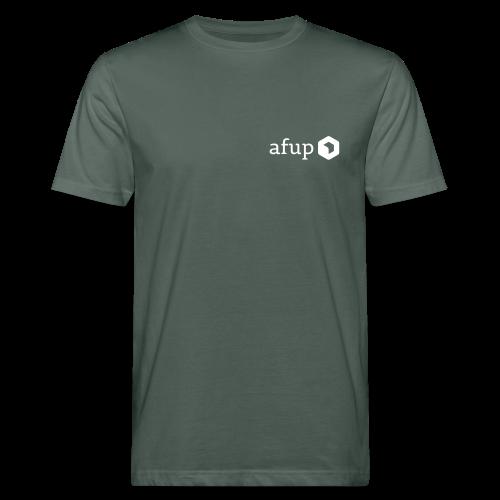 Logo AFUP Blanc - T-shirt bio Homme