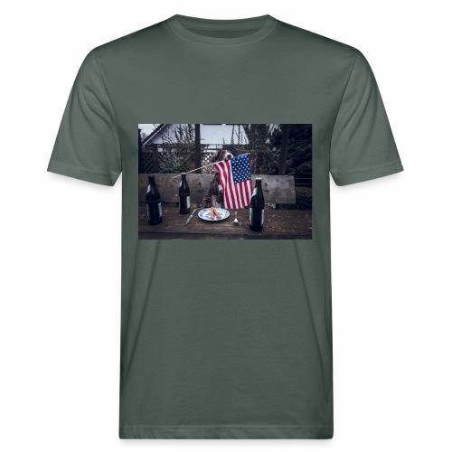 USA-beer-wiener - Männer Bio-T-Shirt