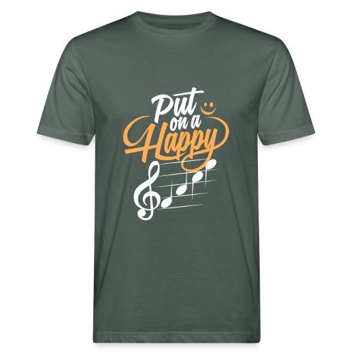 happy face - Männer Bio-T-Shirt