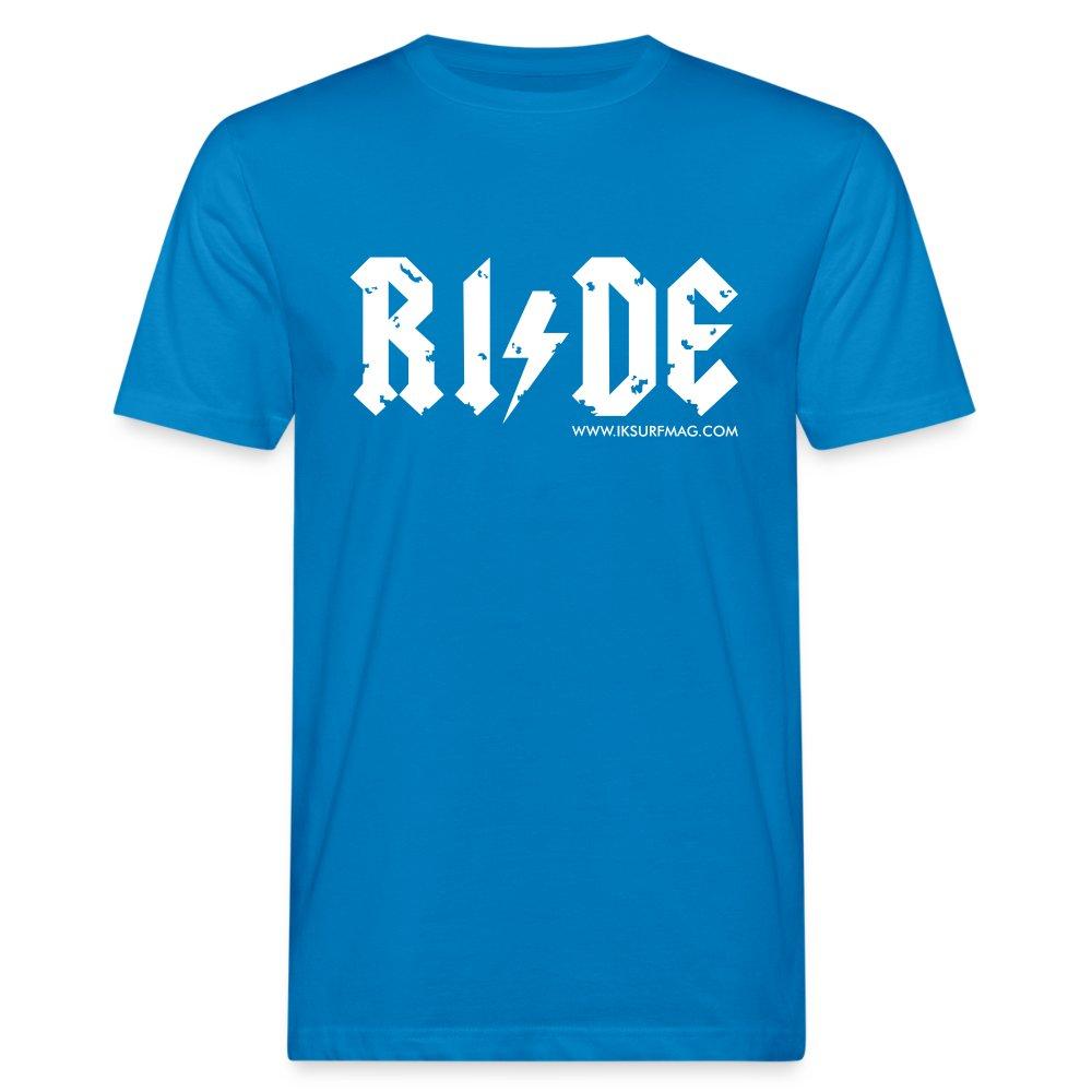 RIDE - Men's Organic T-Shirt - peacock-blue