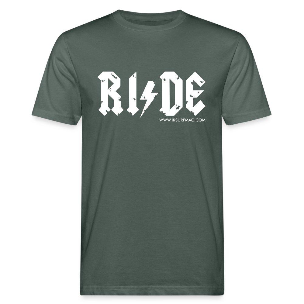 RIDE - Men's Organic T-Shirt - dark grey