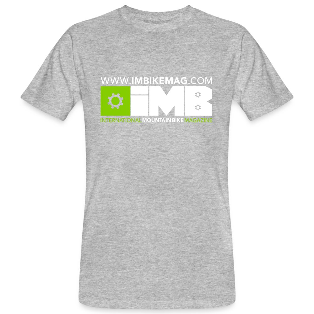 IMB Logo - Men's Organic T-Shirt - heather grey