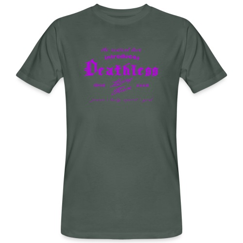 deathless living team violet - Männer Bio-T-Shirt