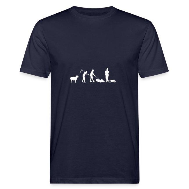 Die Evolution des Rasenmähens T-Shirt