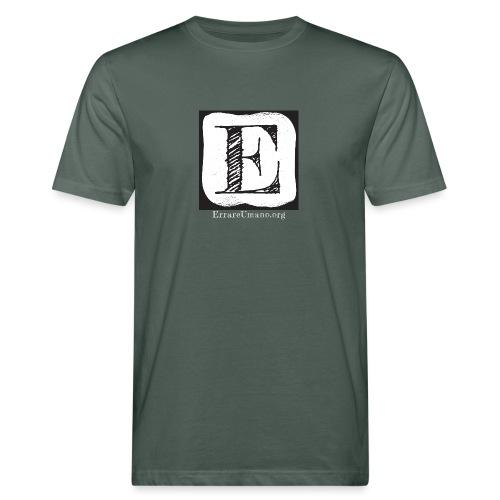 Logo ErrareUmano con scritta bianca - T-shirt ecologica da uomo