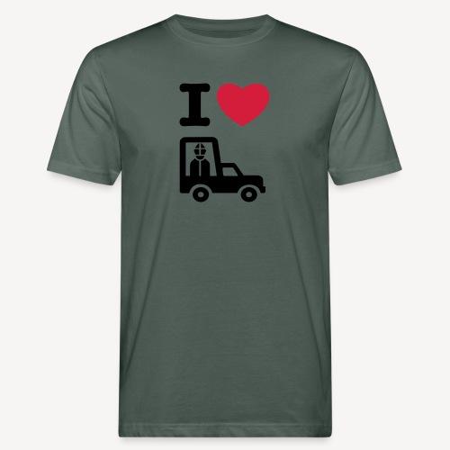 Papst im Auto - Men's Organic T-Shirt