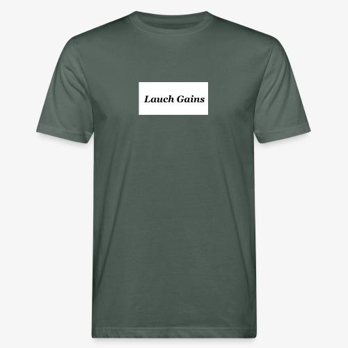 Lauch Gains - Männer Bio-T-Shirt