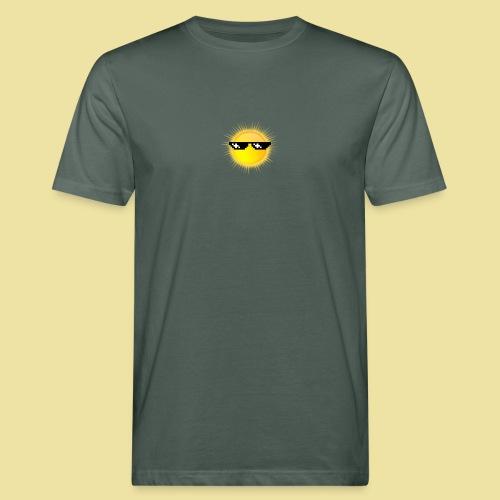 coole Sonne mit Sonnenbrille - Männer Bio-T-Shirt