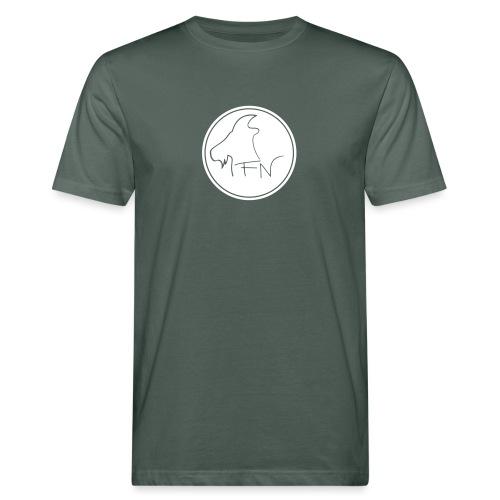 FN-Logo Weiss - Männer Bio-T-Shirt