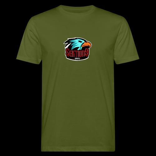 Sektion9 Logo Schwarz - Männer Bio-T-Shirt